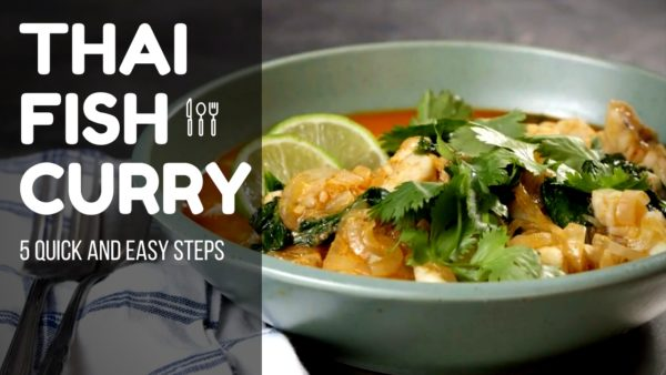 how to cook thai curry fish
