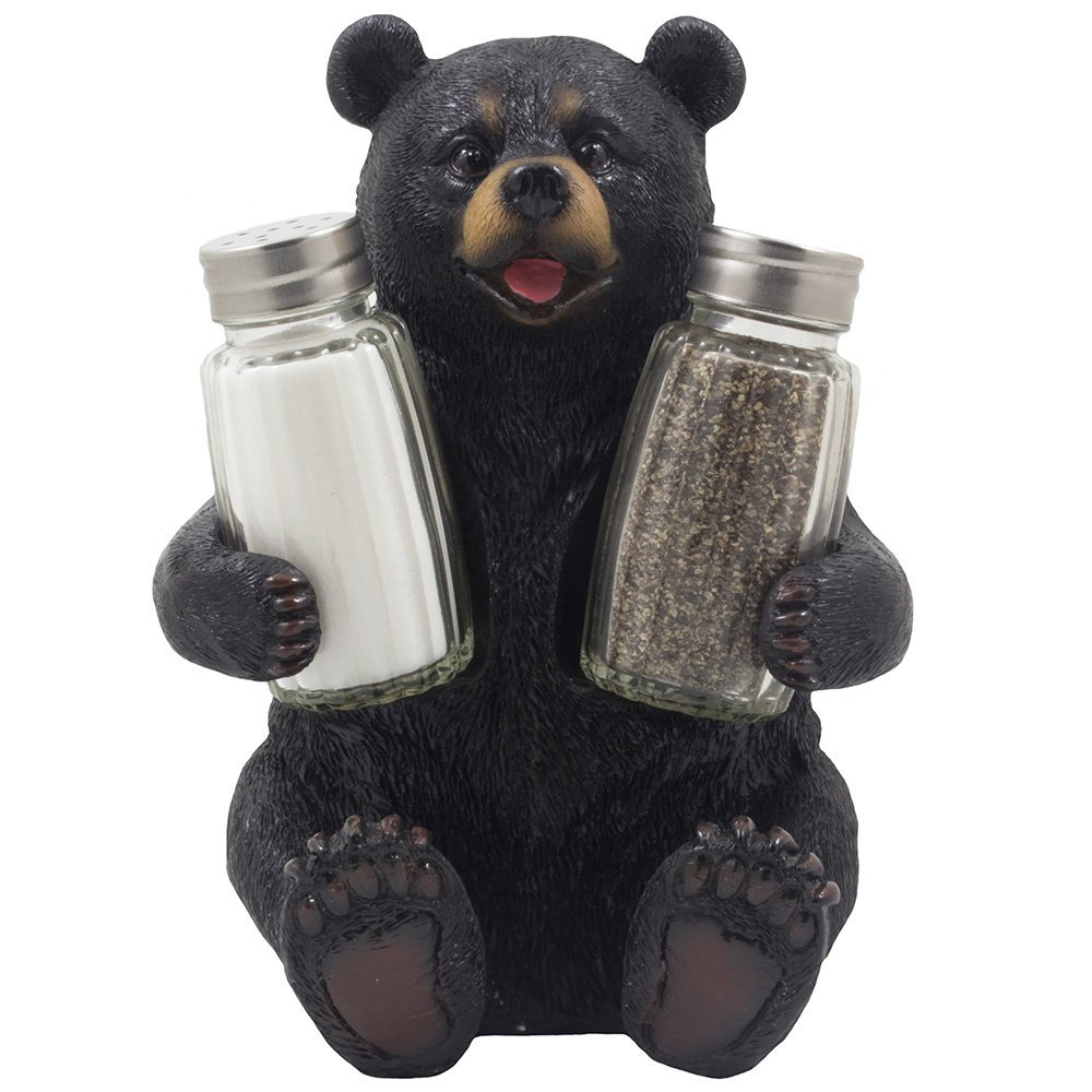 Bear Glass Salt And Pepper Shaker Set