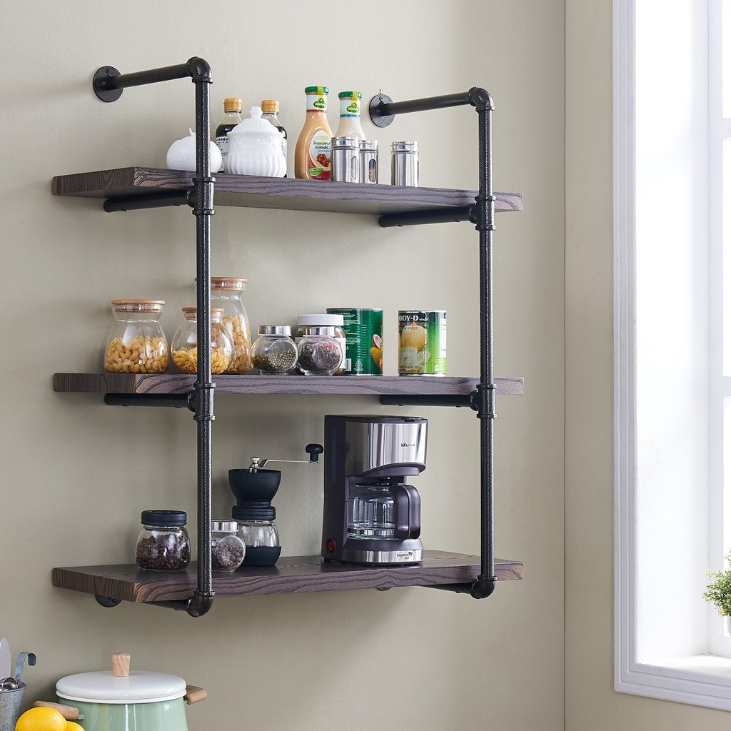 Hanging Open Kitchen Shelves: Top 10 Wall Mounted Storage, Shelving & Cabinets (New 2018 Updated