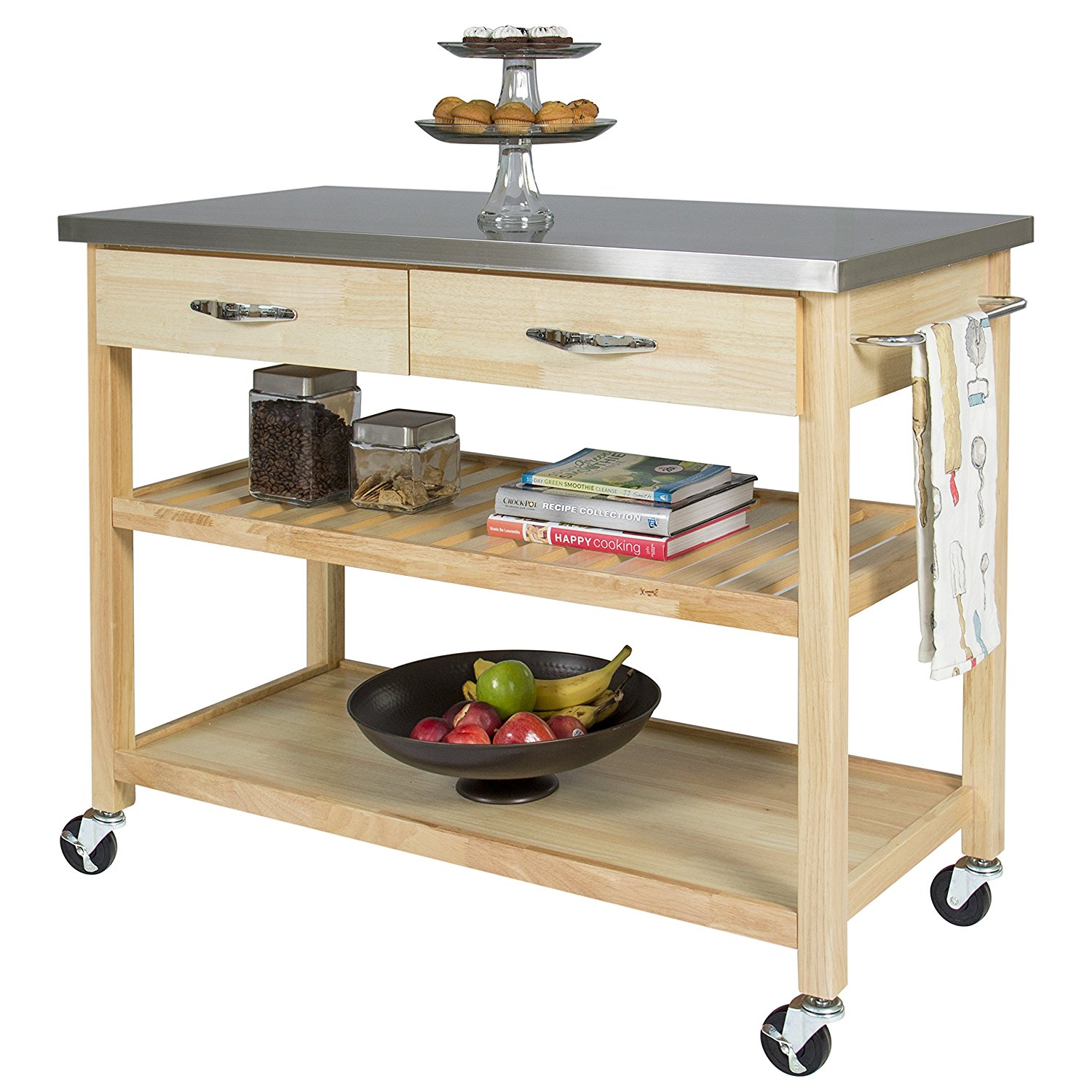 2018 Top 10 Best Mobile Kitchen Carts, Centers, Islands & Utility Tables